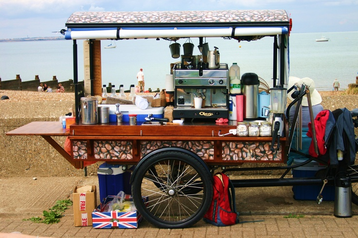 Coffee shop on wheels: Whitstable, England
