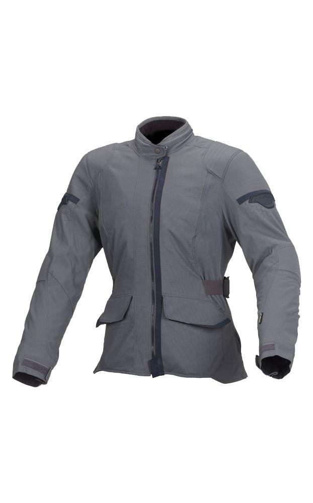 Macna Shine Ladies Textile Motorcycle Jacket - Grey - LadyBiker.co.uk