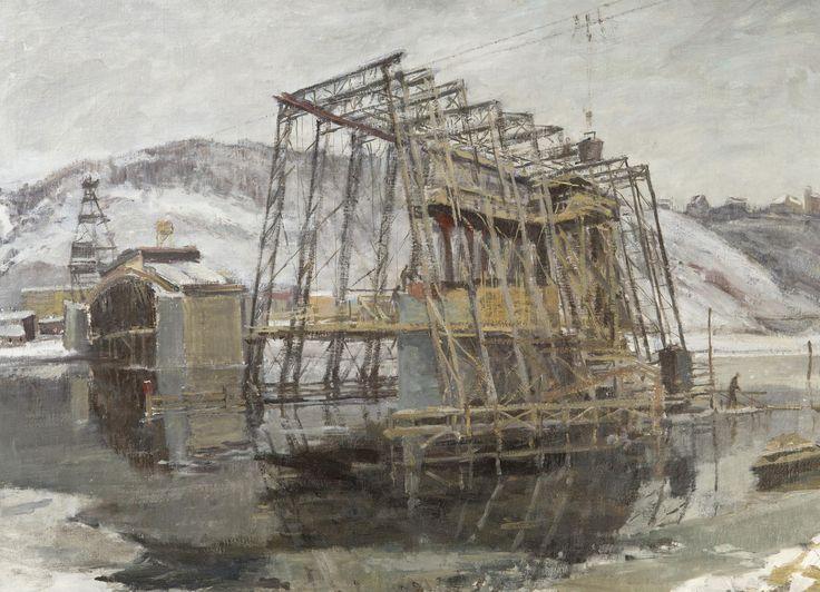 Jaroslav Pokorný - Stavba Branického mostu (1953)