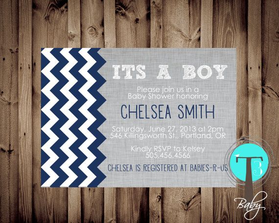 Baby Boy baby shower invitation BABY SHOWER by T3DesignsCo on Etsy, $12.99