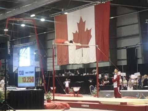Zachary Clay High Bar- 2012 Canadian Championships Saskatchewan