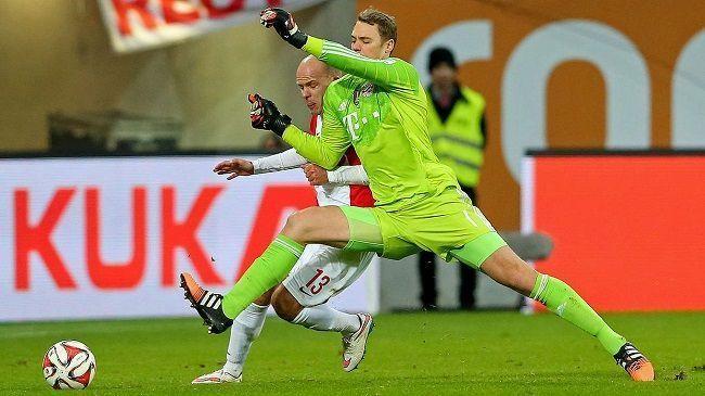 Kolejny wspaniały show Manuela Neuera • FC Augsburg vs Bayern Monachium • Manuel Neuer wykonał wślizg w Bundeslidze • Wejdź i zobacz >>