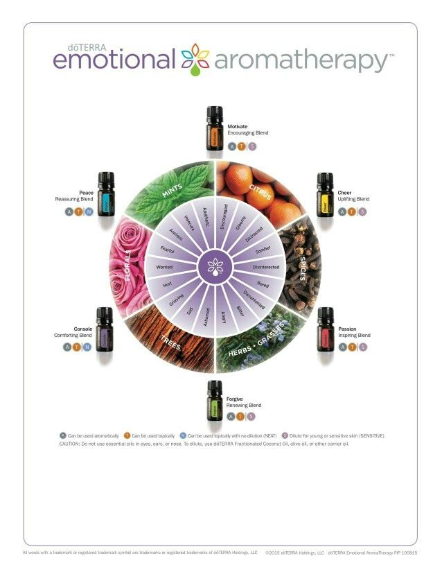 The New Emotional Aromatherapy Chart  Diagram Can Be Found