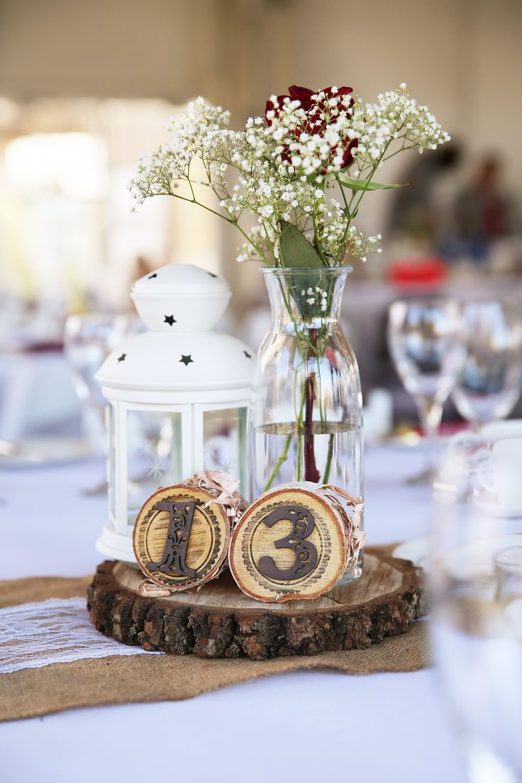 Simple fall centerpieces
