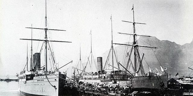 Union Castle Liners in the Cape Town Docks
