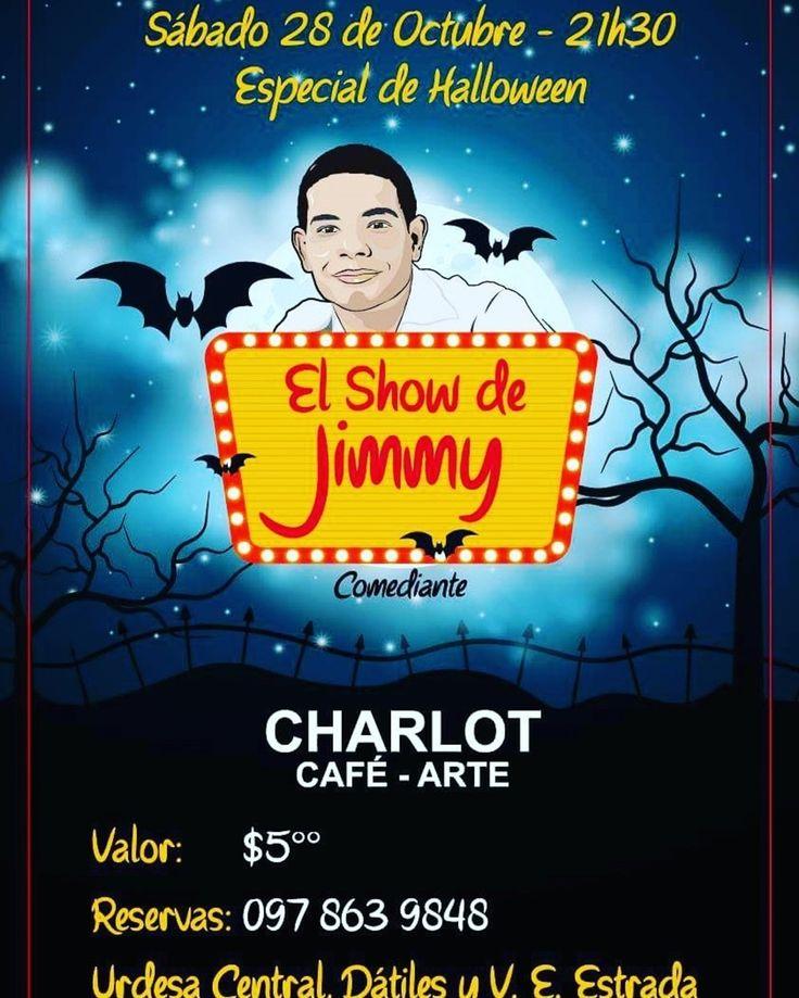 Stand Up Comedy | El Show de Jimmy por Halloween el sábado 28 de octubre - 21h30 en Charlot Café - $5 - 21h30