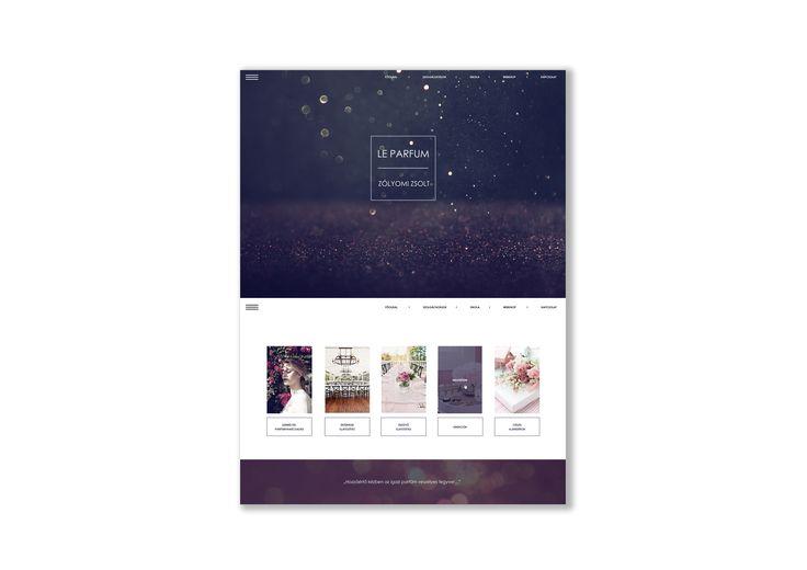webpage design parfume woman glitter ui