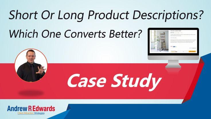 Short or long product descriptions get results?