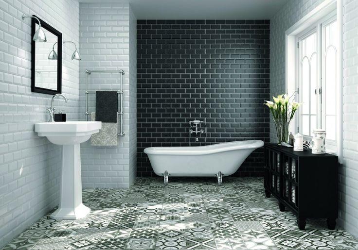219 best impermo badkamer images on pinterest toilet wands and almonds - Deco badkamer vintage ...
