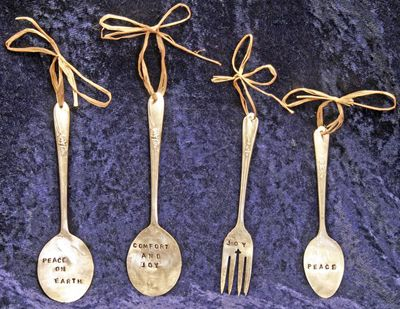 upcycled silverware: Crafts Ideas, Plants Labels, Coolest Garlands, Gifts Ideas, Holidays Ideas, Christmas, Plants Markers, Great Ideas, Art Projects