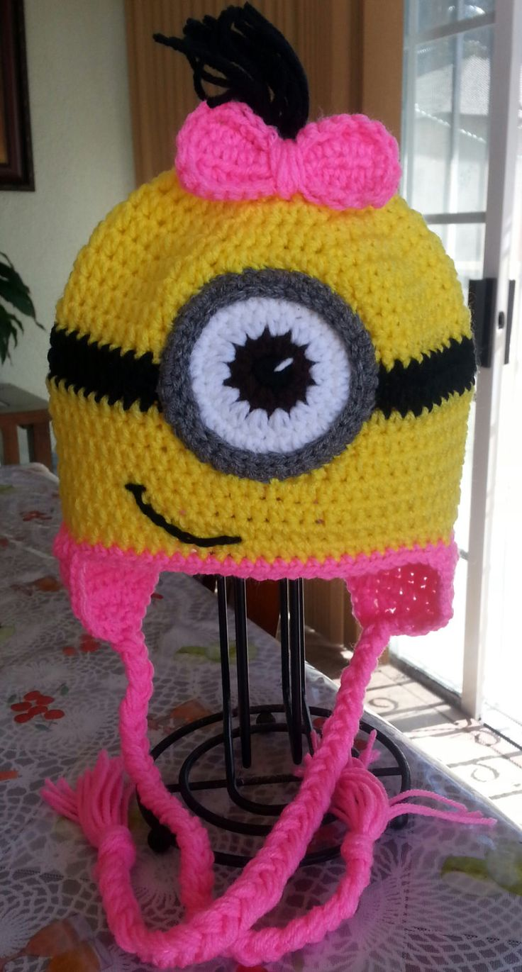 Free Crochet Pattern For Girl Minion Hat : 1000+ images about Clever crafts on Pinterest Loom, Loom ...