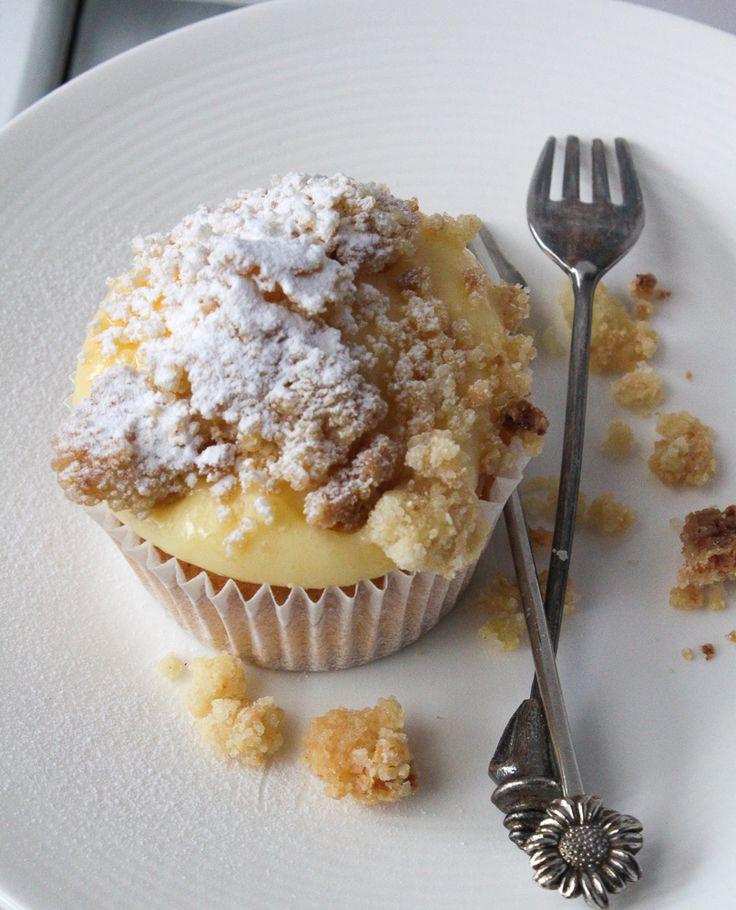 Pudding kruimelvlaai cupcakes