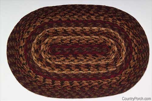 Cinnamon Braided Placemats, area rugs, room sized rugs, stair treads, chair pads.... natural jute fiber. Available @ CountryPorch.com