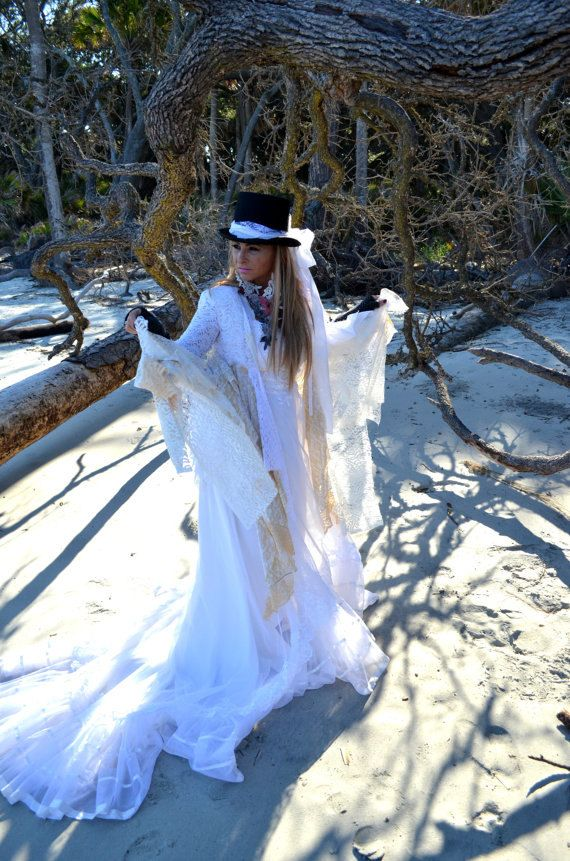 Stevie Nicks style coat Gypsy wanderlust lace by TrueRebelClothing