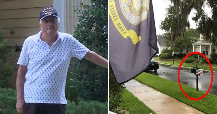 Veteran Was Suddenly Asked To Take Down His 4-Year-Old American Flag Wrap From Mailbox