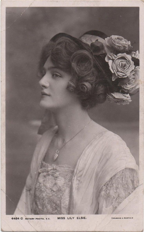 Miss Lily Elsie Vintage Tinted Photo