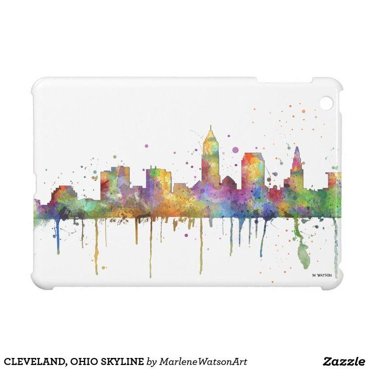 CLEVELAND, OHIO SKYLINE iPad MINI CASES