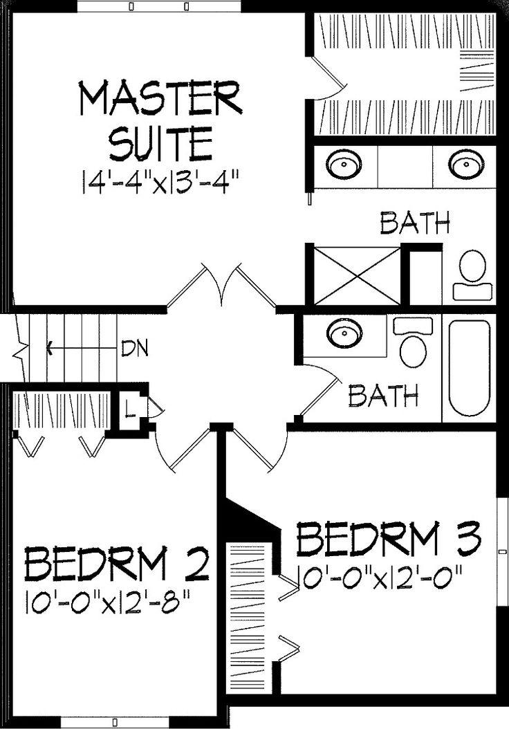 17 best images about split level floor plans on pinterest for Split level bedroom designs