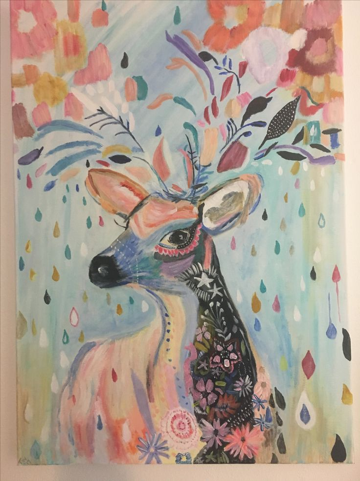 My deer painting finished August 2017