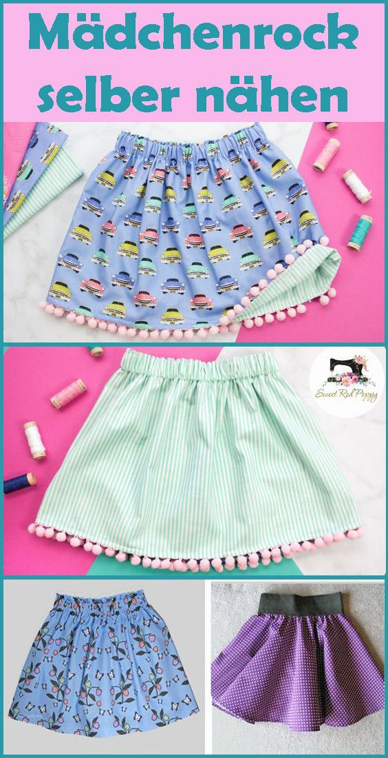 Sew girls skirt by yourself – Free instructions and patterns for beginners
