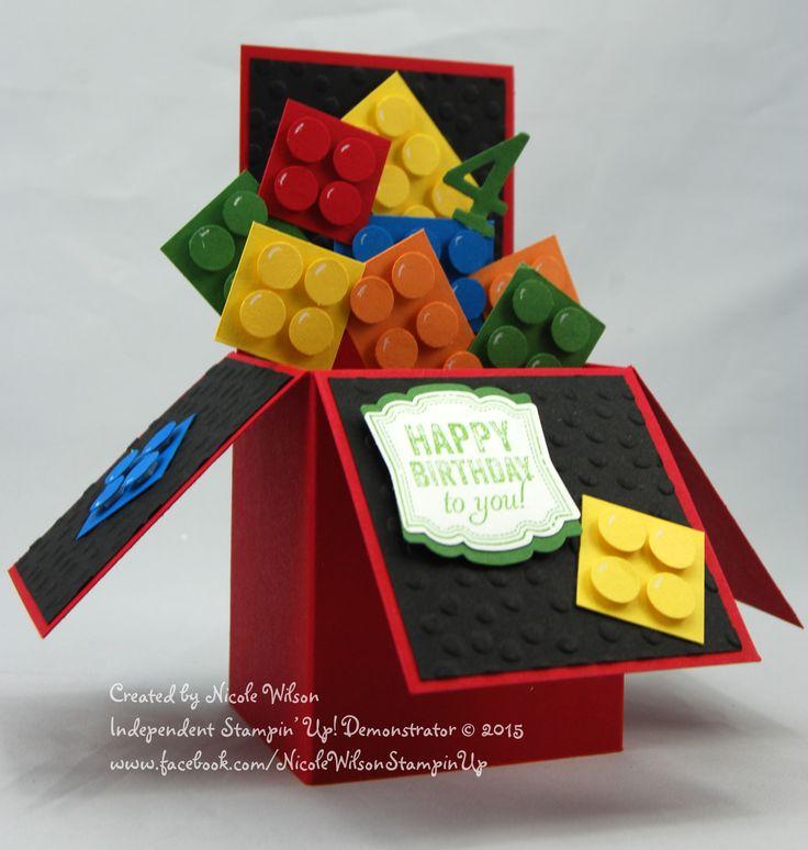 Lego Box card www.facebook.com/NicoleWilsonStampinUp