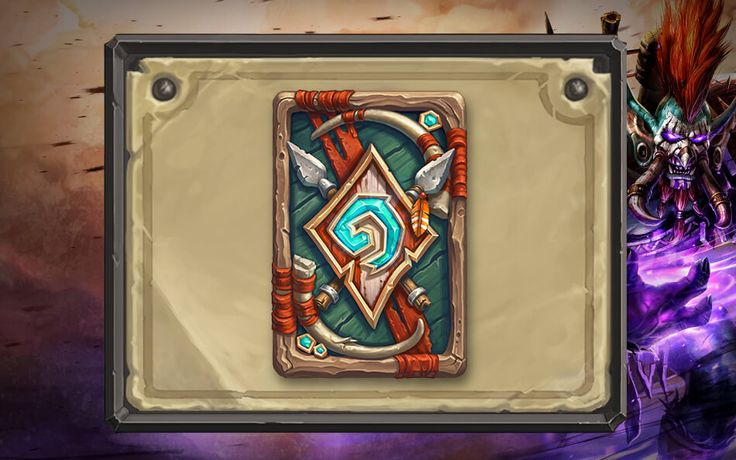 The Darkspear troll clan card back! http://hearthstonehungary.hu/node/hearthstone-szezon-16-a-darkspear-oromere