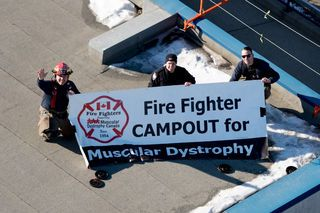 Firefighters prepare for rooftop campout with kick-off fundraiser