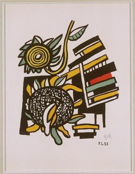 Both Sunflowers (Sunflowers) - Leger Fernand - WikiArt.org