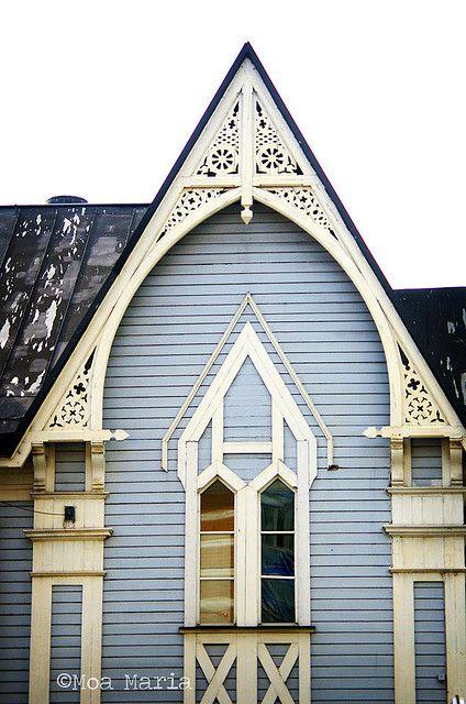 gingerbread detail of church in Lulea, Sweden