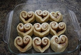 Cinnamon roll hearts!