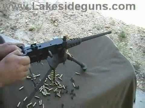 22 belt fed machine gun