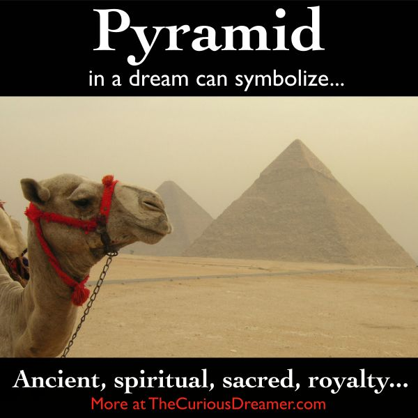 A pyramid in a dream