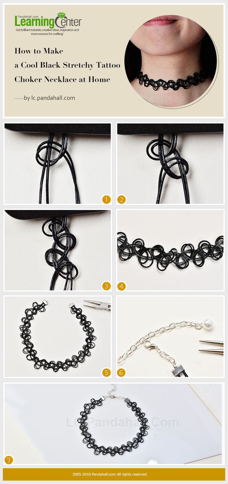How to Make a Cool Black Stretchy Tattoo Choker Necklace at Home from LC.Pandahall.com