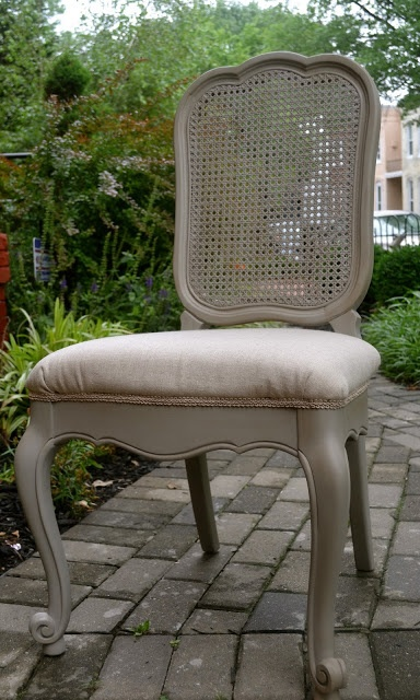 Ask For Roses: French Cane Back Chair Redo