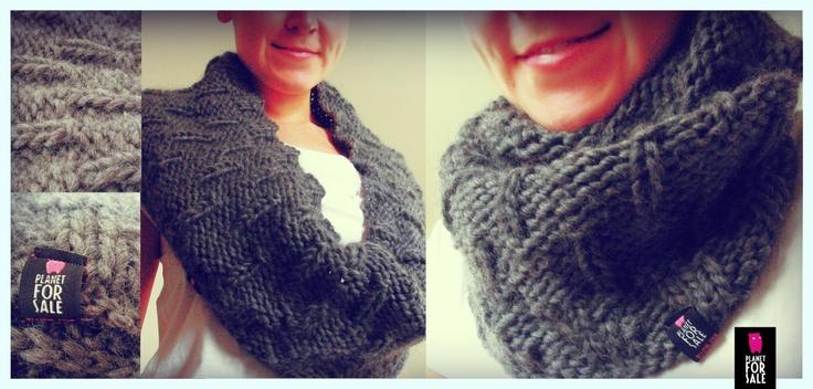 Infinity scarf - Gloomy - wear it as you like  facebook.com/planetforsale