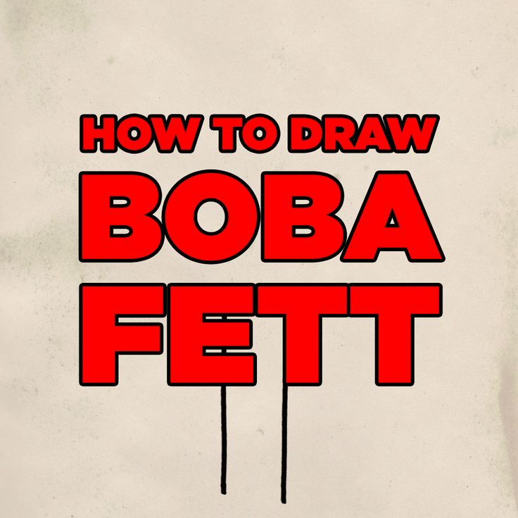 How to draw Boba Fett.