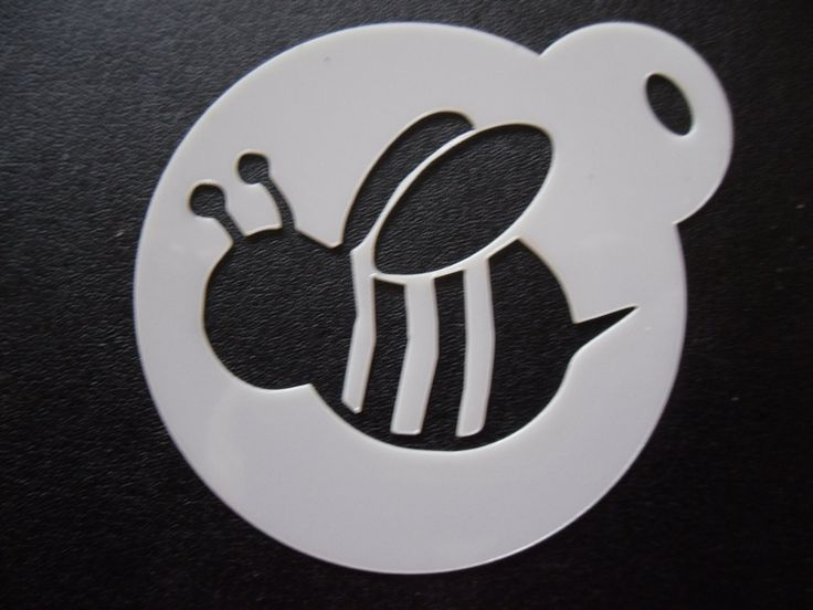 Unique bespoke new laser cut bumble bee cookie / face painting stencil