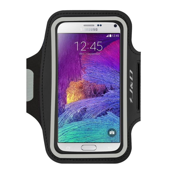 [Lifetime Hassle-Free Warranty] Samsung Galaxy Note 4 Armband, J&D Sports Armband for Samsung Galaxy Note 4, Key holder Slot, Perfect Earphone Connection while Workout Running (Black). [Lifetime Hassle-Free Warranty] from J&D Tech. Adjustable strap fasten your Note 4 onto your arm safely. Touchable screen make it easy to operate your Note 4 through armband. Access to earphone. Design specifically for Samsung Galaxy Note 4.