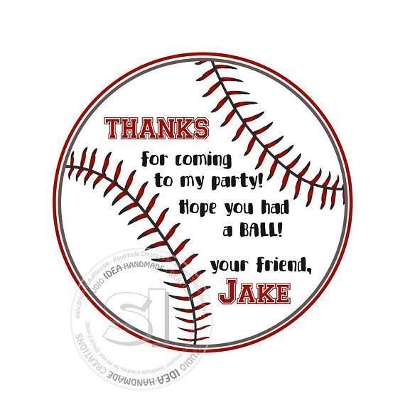 Custom Sports Stickers Ball Thank you Birthday 2.5