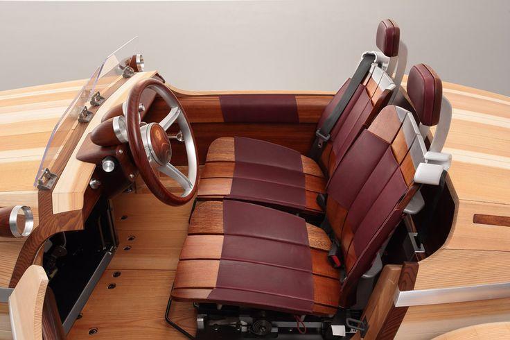 Wooden Toyota Setsuna concept car for Milan design week 2016