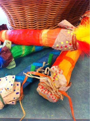Art at Becker Middle School: Paper Mâché Rain Sticks