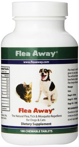Flea Away Natural Flea Prevention Tablets: These chewables are an excellent way to ward off fleas and a great source of protein & B…