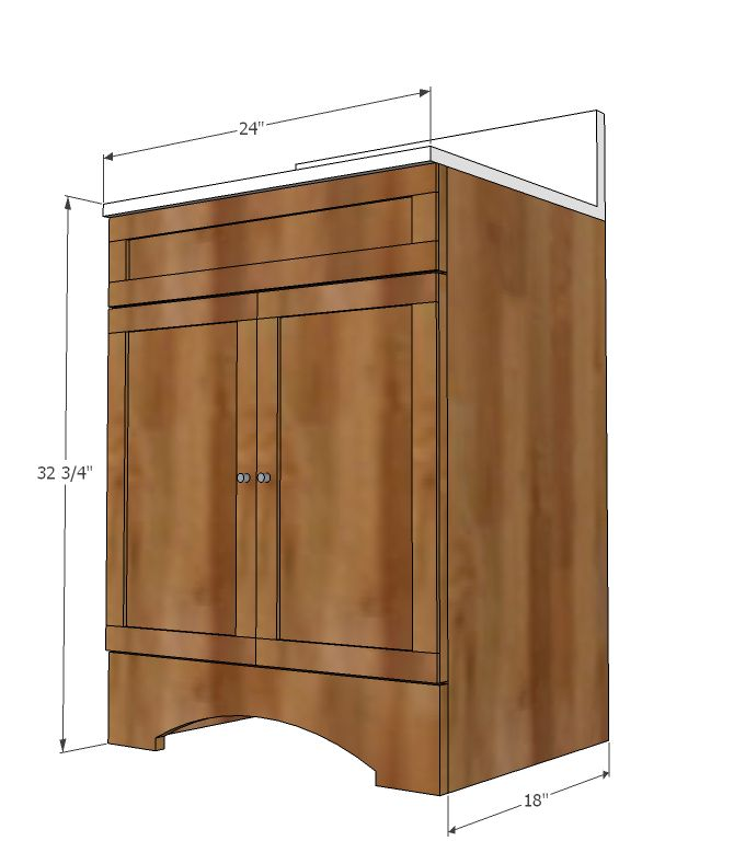 Bathroom vanity woodworking plans free woodworking - Bathroom vanity plans woodworking ...
