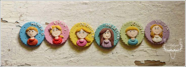 Happy kids, polymer clay, handmade by Zubiju https://www.facebook.com/Zubiju
