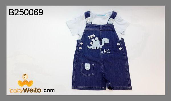 B250069  Baju Setelan Kodok Dino Jeans  Bahan halus dan lembut  Warna sesuai gambar  IDR 165*
