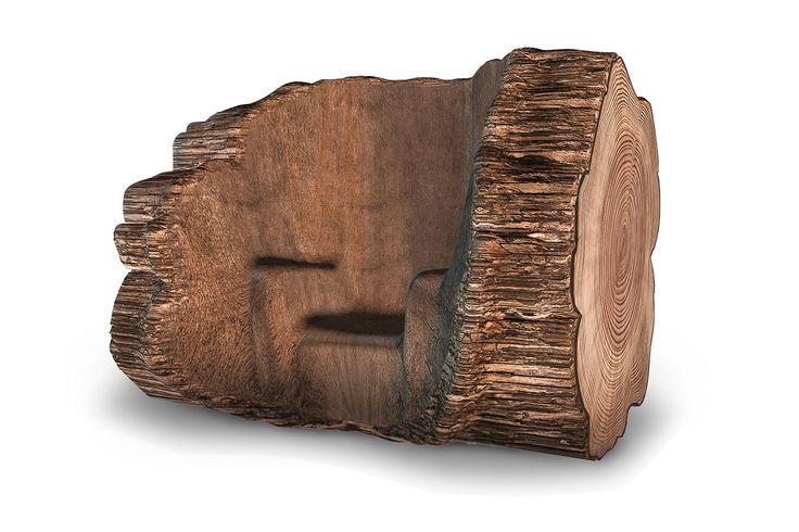 Marteen Bass | Tree Trunk Chair