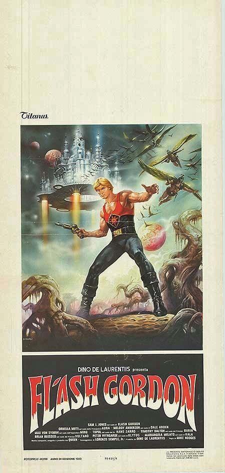 FLASH GORDON original RARE 1980 movie poster QUEEN/SAM J. JONES/ORNELLA MUTI