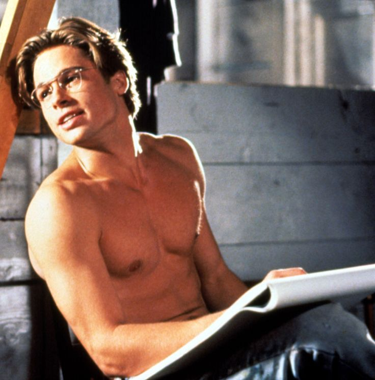 "Brad Pitt - - - The movie is ""The Favor"" Not very good, but this shirtless scene of young Brad is truly HOT!"