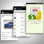 Prix voitures Algérie application mobile android et iOS