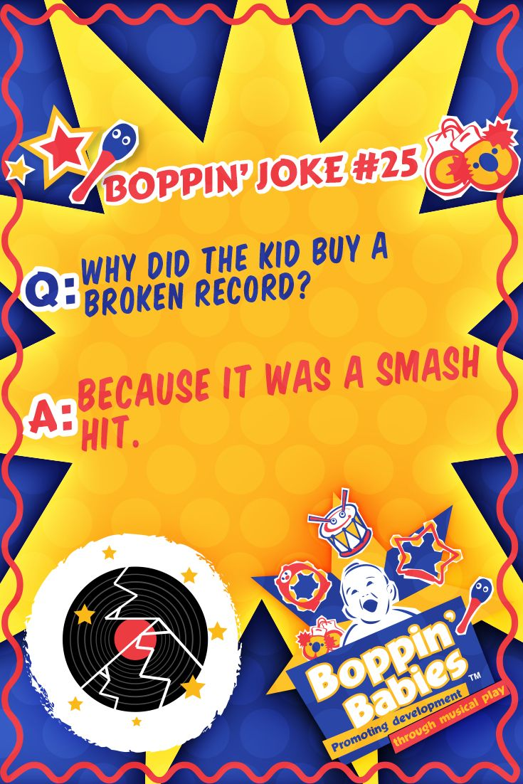 Q: Why did the kid buy a broken record? A: Because it was a smash hit! #FridayFunny